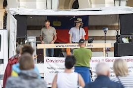 Zweite Coronademo in Vaduz