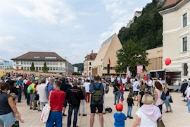 Corona Demo in Vaduz